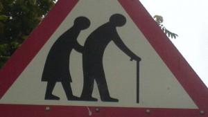 Senioren Warnschild