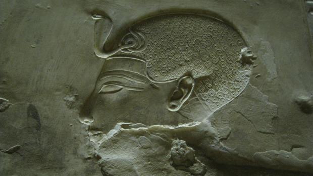 Ägyptisches Relief Kopf