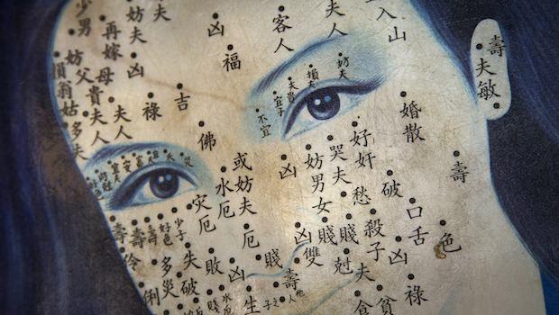 Gesicht-Akupunktur-Punkte