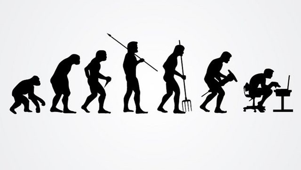Silhouettendarstellung der Evolution