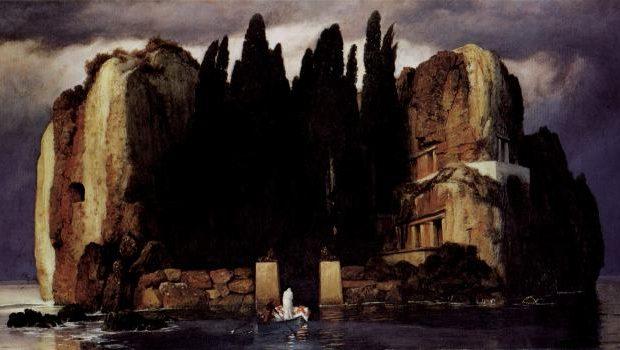 Die Toteninsel von Arnold Böcklin