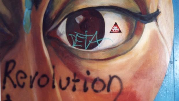 Auge Wandmalerei Revolution