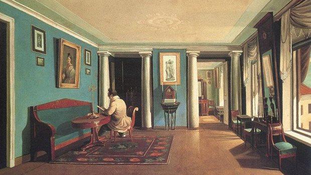 Biedermeier Wohnung Gemälde