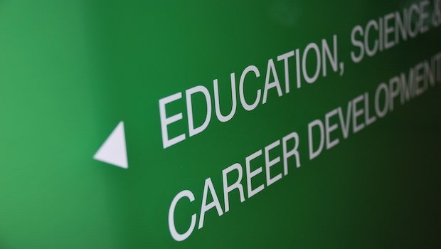 Career Development grünes Schild