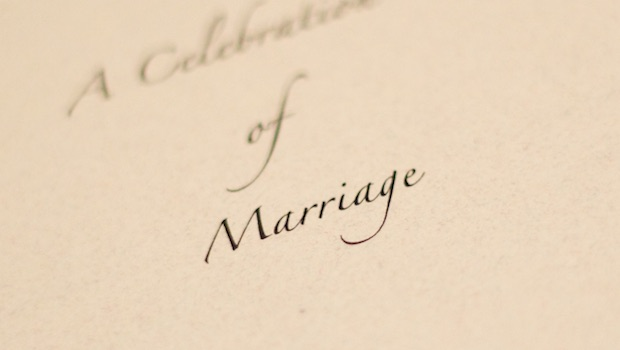 Celebration Marriage Schrift Karte