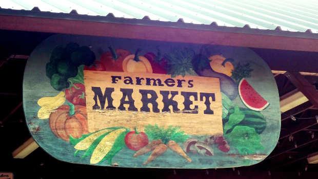 Farmers Market Schild