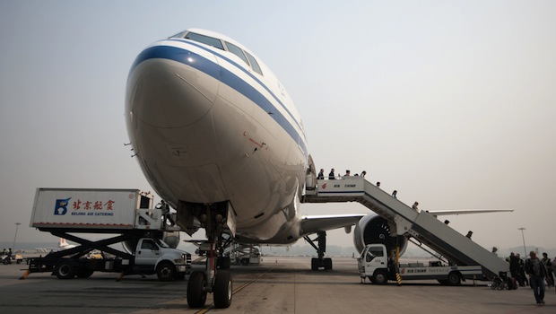Flugzeug auf dem Rollfeld
