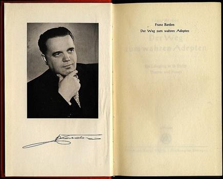Foto und Titel von Franz Bardons Buch