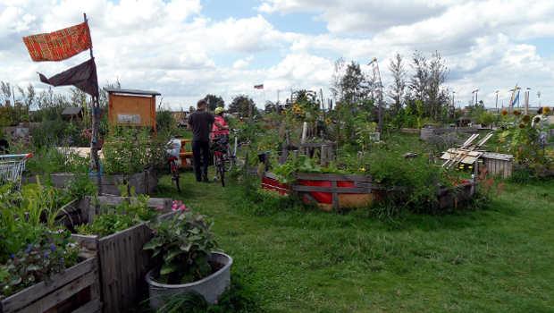 Garten mit Menschen