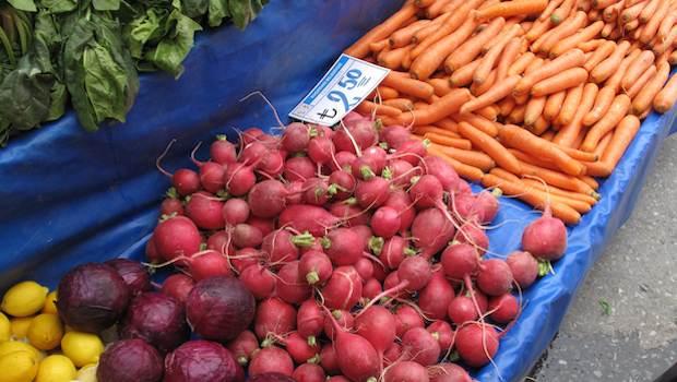 Gemüse in der Auslage