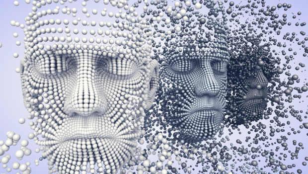 Gesichter aus Kugeln geformt