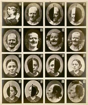 Gesichter in schwarz-weiß