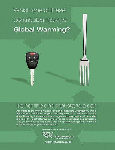 Klimawandel Plakat Autoschlüssel Gabel