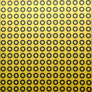 Kreise im gelben Quadrat