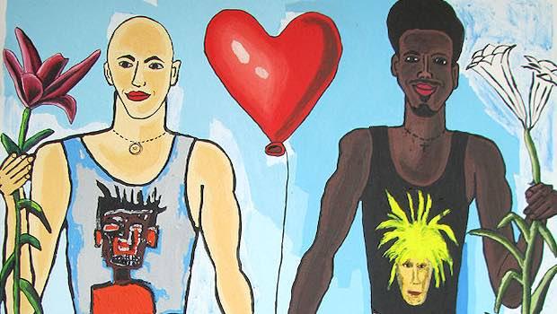 Kunst homosexuell hell dunkel Herz