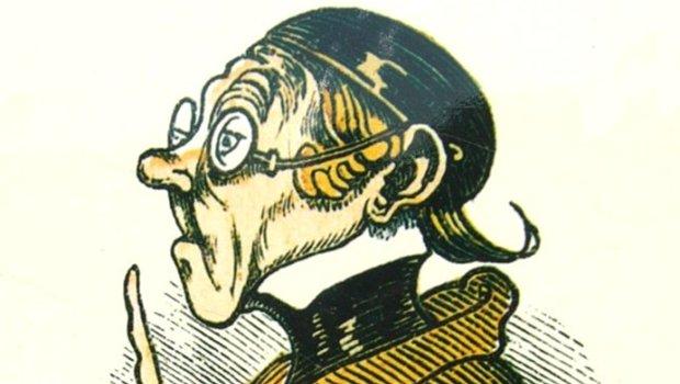 kolorierte Zeichnung eines Kopfes