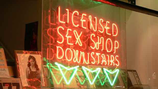 Licensed Sex Shop Leuchtschrift