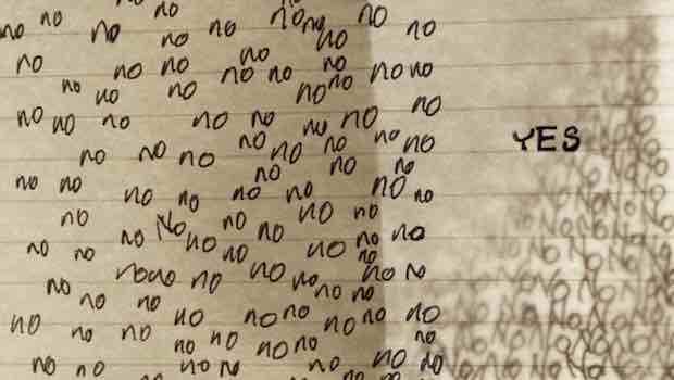 Linienblatt viele Nos ein Yes