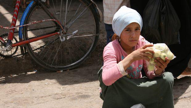 Mädchen in Syrien während des Krieges