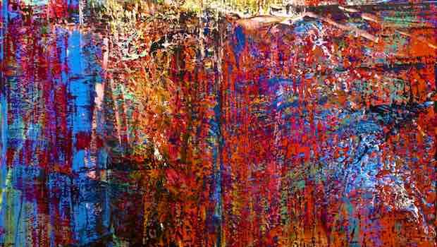 Malerei rote blaue Striche