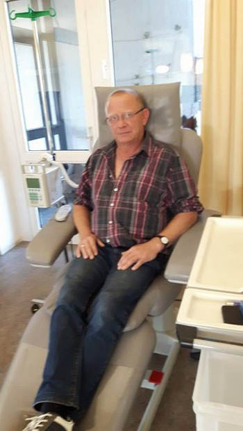 Mann Chemotherapie Krankenhaus Stuhl
