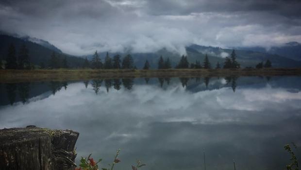 Maria Alm, Tannen Wolken, Berge