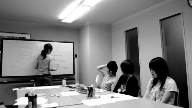 Meeting im Büro Flipchart
