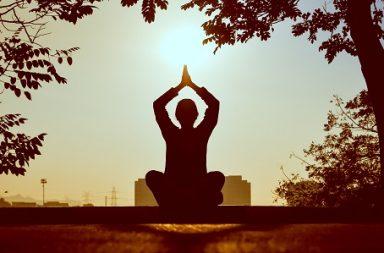Meditierender Mensch