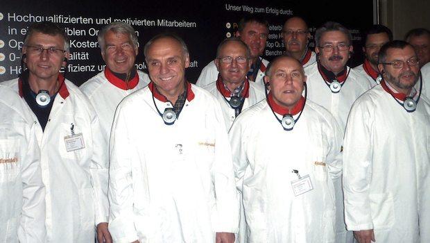 Gruppe motivierter Mitarbeiter