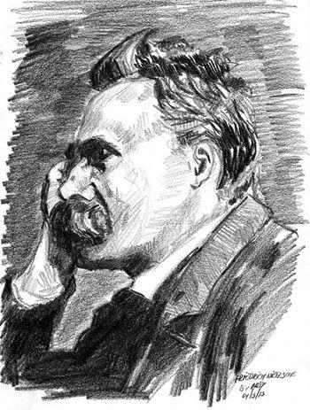 Nietzsche Zeichnung