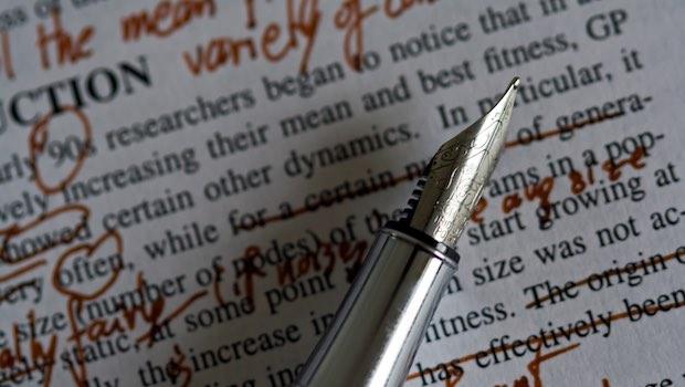 Füller, Korrekturen und Notizen