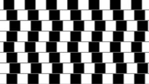 optische Täuschung mit parallelen Linien