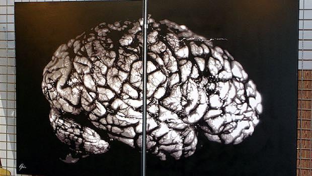 Gehirn Plakat Kachelwand