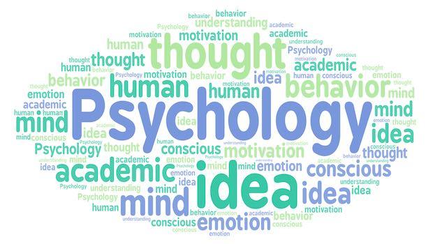 Psychology Woerter gruen blau