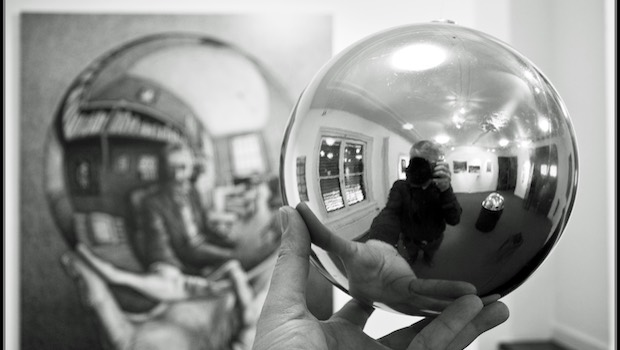 Silberkugel, Spiegelung Mensch
