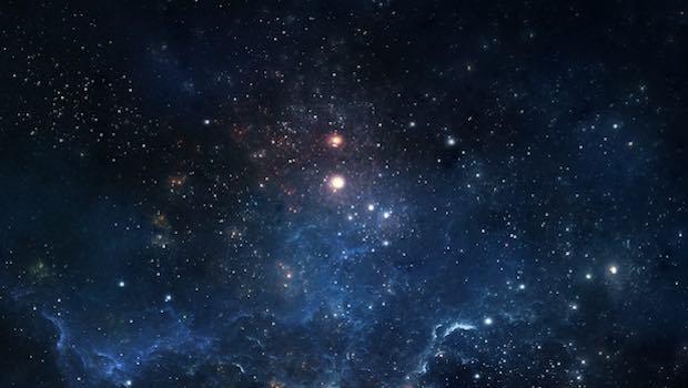 Weltall mit Sternenhimmel