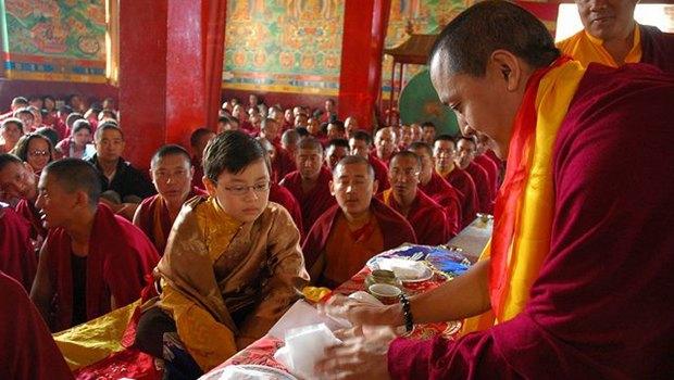 Tibetsiche Mönche bei Zeremonie