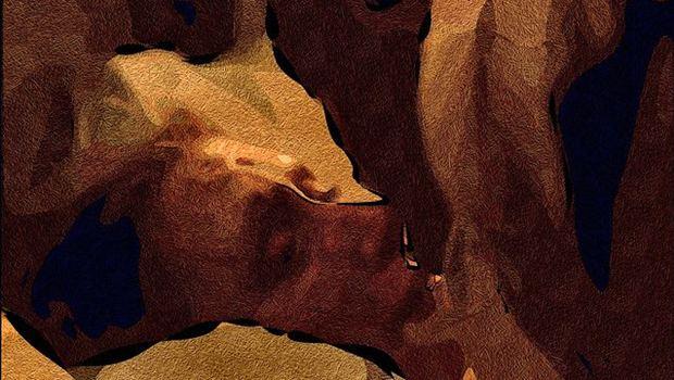 Gesicht einer Frau in Brauntönen