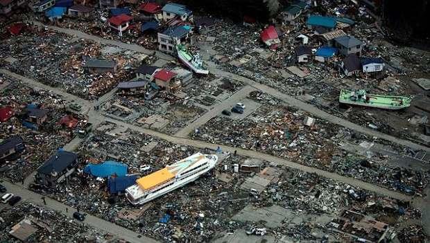 Tsunami Japan Luftaufnahme