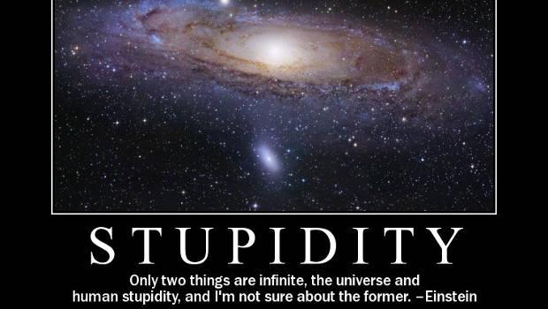 Universum, Einstein Spruch, Stupidity