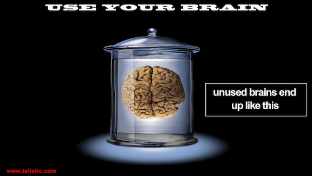 Use your Brain Glas Gehirn