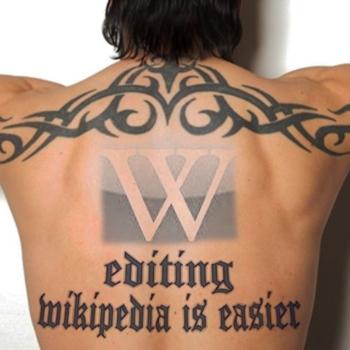 Wikipedia Tattoo auf Rücken