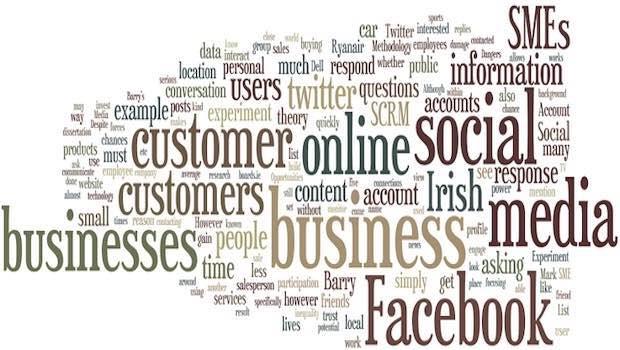 Wörter Business Social Media