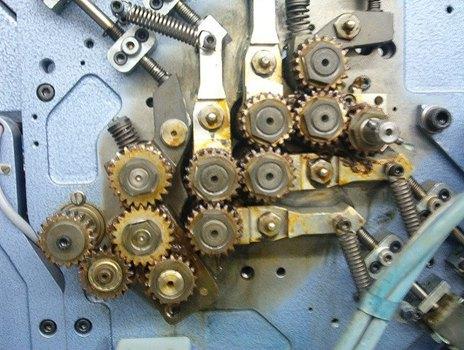 Zahnräder Falzmaschine
