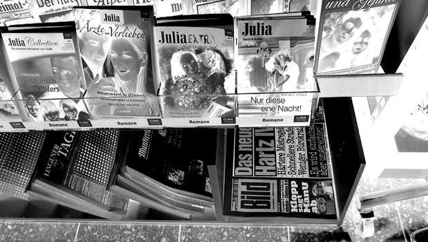 Zeitschriften als Negativbild