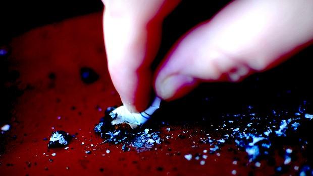 Zigarette ausdrücken