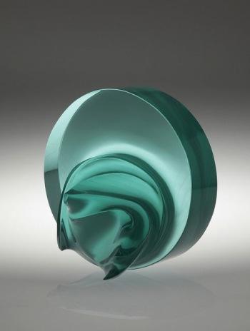 blaugrüner Zylinder mit Auswuchs, schwebend
